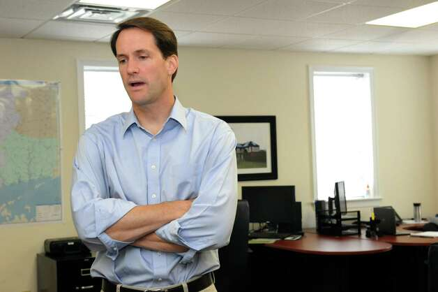 U.S. Rep Jim Himes visits Renewable Resources (Energy Solutions) Inc., in Stamford Tuesday, Aug. 7, 2012. Photo: Helen Neafsey / Greenwich Time