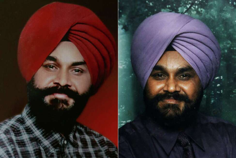 In this undated combo photo composed of two images provided by the family, Indian Ranjit Singh, right, and Sita Singh who were killed in the shooting attack at a Sikh temple in Wisconsin are seen. The Indian born brothers were both killed in the shooting attack Sunday. (AP Photo)