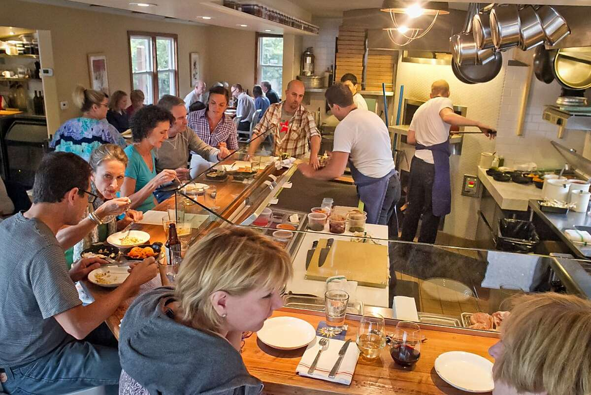 People enjoy dinner inside of Glen Ellen Star in Glen Ellen, Calif., on Friday, August 3rd, 2012.