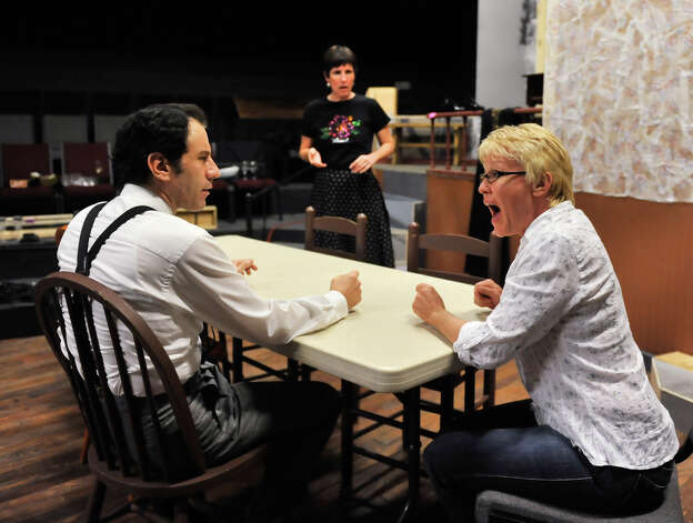 "Robert Carenzo (from left), Anna Gangai and Christy Huffman star in ""August: Osage County"" at Sheldon Vexler Theatre. Photo: Robin Jerstad, For The Express-News / ROBIN JERSTAD     210 254 6552"