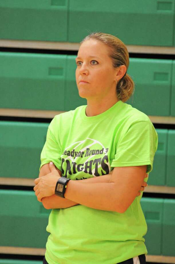Clear Falls volleyball head coach Lyndsay Hodges Photo: L. Scott Hainline / The Chronicle