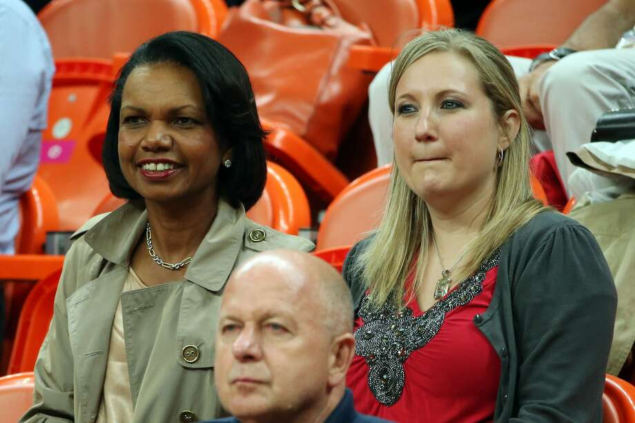 Condoleezza Rice attends a game between Brazil and Spain during the Men's Basketball Preliminary Round. (Photo by Christian Petersen/Getty Images) (Christian Petersen / Getty Images)