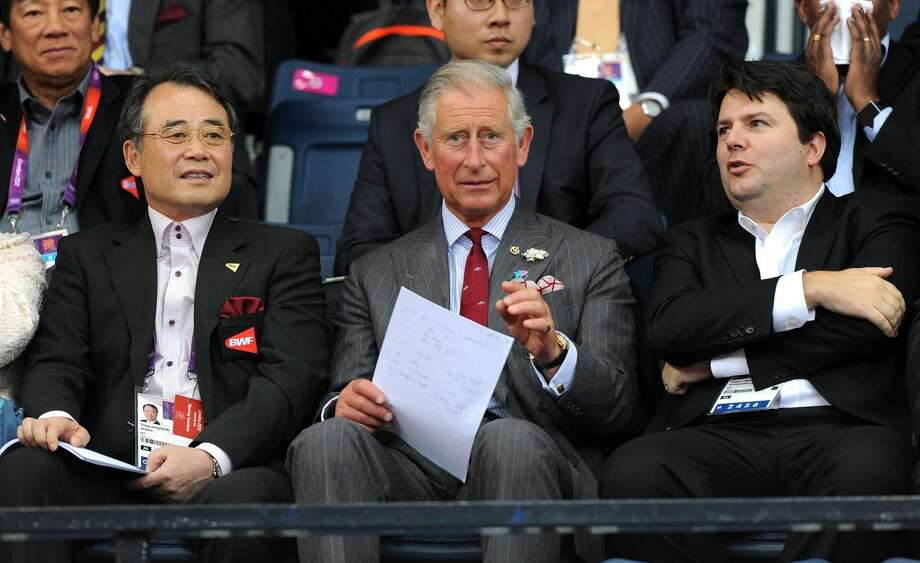 Prince Charles (C), Prince of Wales talks with Dr. Young Joong  Kang (L), President of Badminton World Federation and Gregory Verpoorten (R), Vice president of the BWF. (Photo by Michael Regan/Getty Images) (Michael Regan / Getty Images)