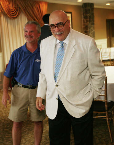 St. Joseph High School basketball coach Vito Montelli smiles at his retirement announcement ceremony at Vazzano's Four Seasons in Stratford on Wednesday, August 8, 2012. Photo: Brian A. Pounds / Connecticut Post
