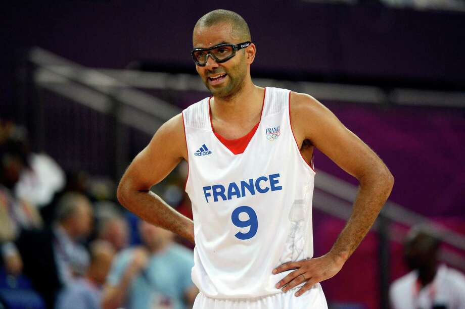 LONDON, ENGLAND - AUGUST 08:  Tony Parker #9 of France looks on while taking on Spain during the Men's Basketball quaterfinal game on Day 12 of the London 2012 Olympic Games at North Greenwich Arena on August 8, 2012 in London, England. Photo: Ronald Martinez, Getty Images / 2012 Getty Images