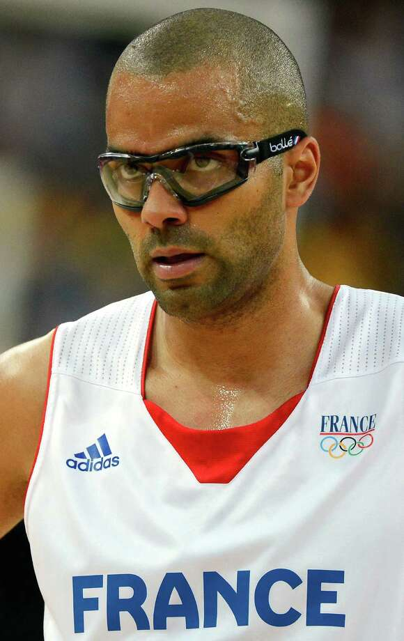 LONDON, ENGLAND - AUGUST 08:  Tony Parker #9 of France looks on in the first half while taking on Spain during the Men's Basketball quaterfinal game on Day 12 of the London 2012 Olympic Games at North Greenwich Arena on August 8, 2012 in London, England. Photo: Ronald Martinez, Getty Images / 2012 Getty Images