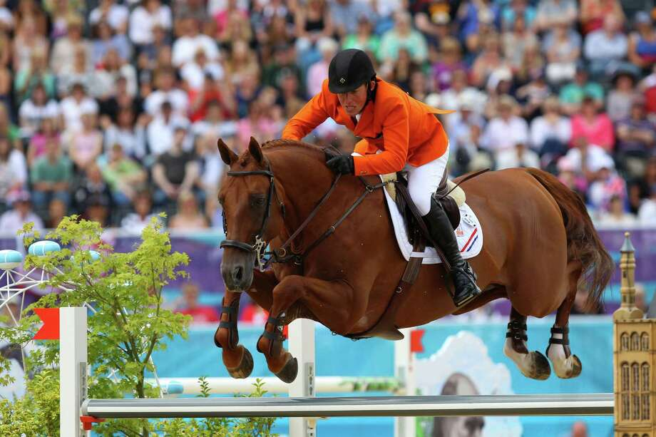 LONDON, ENGLAND - AUGUST 08: Gerco Schroder of Netherlands riding London competes in the Individual Jumping Equestrian on Day 12 of the London 2012 Olympic Games at Greenwich Park on August 8, 2012 in London, England. Photo: Alex Livesey, Getty Images / 2012 Getty Images