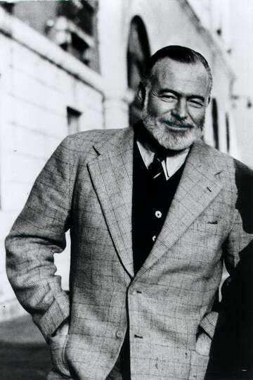 Ernest Hemingway stands on the Bridge of Sighs in Venice, Italy, in this 1950 file photo taken by hi