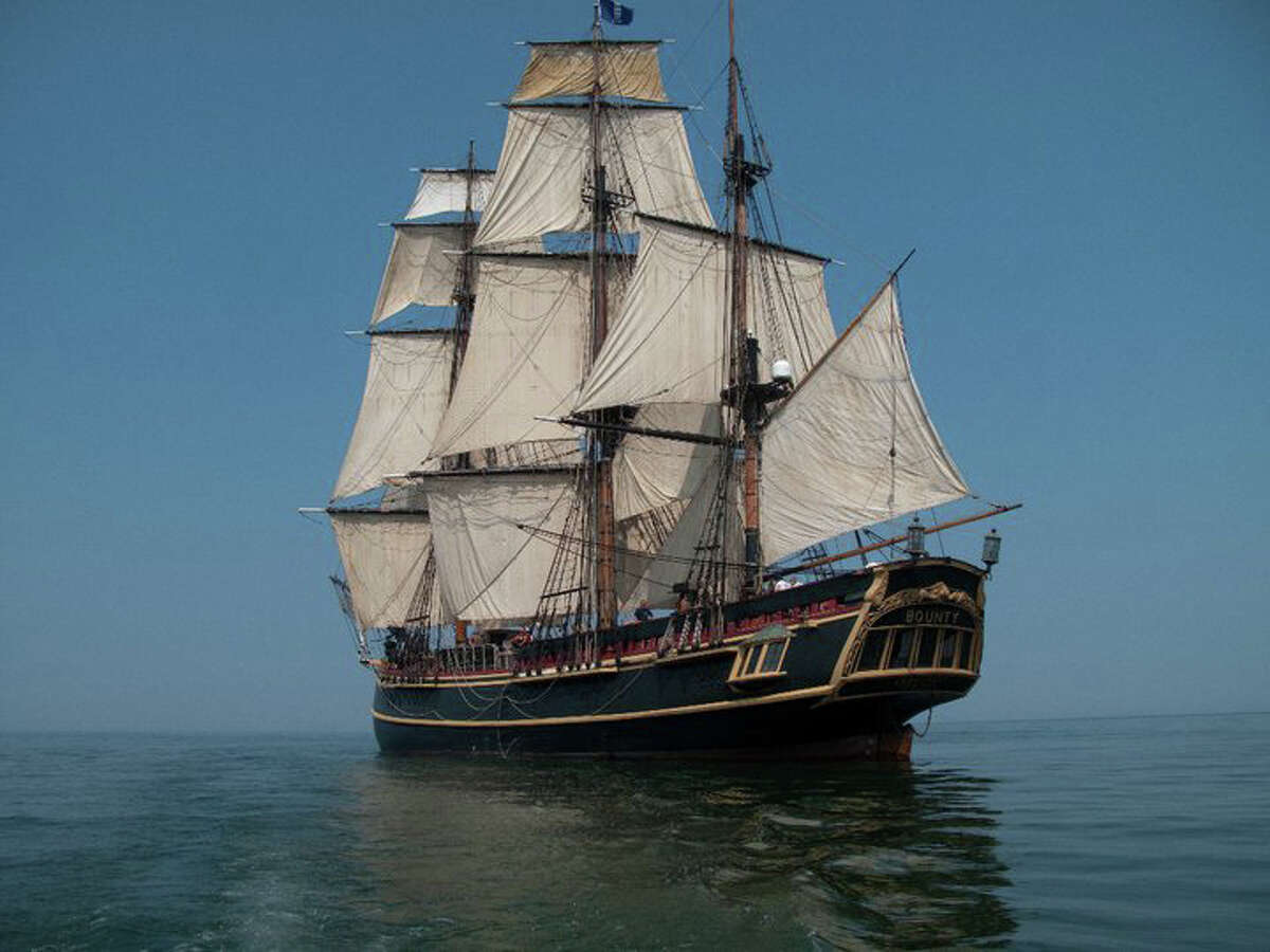 The HMS Bounty, the very same tall ship used in the 1962 film