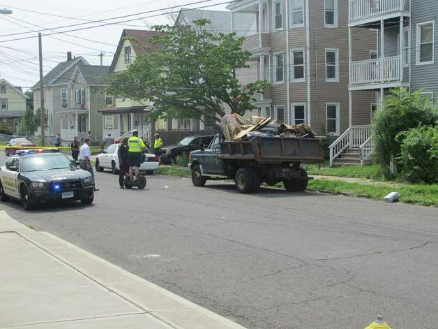 An unidentified man was shot in the head at 505 Park St., in Bridgeport, Conn. on Wednesday, August 8, 2012 around 12:45 p.m. The victim was taken to Bridgeport Hospital. Photo: Tom Cleary
