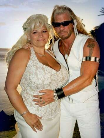 "Duane 'Dog' Chapman, the bounty-hunter-turned-reality-star, married Beth Smith, his longtime companion, in Kona, Hawaii in 2006. The committed couple waited 16 years before saying, ""I do."" Photo: AP"