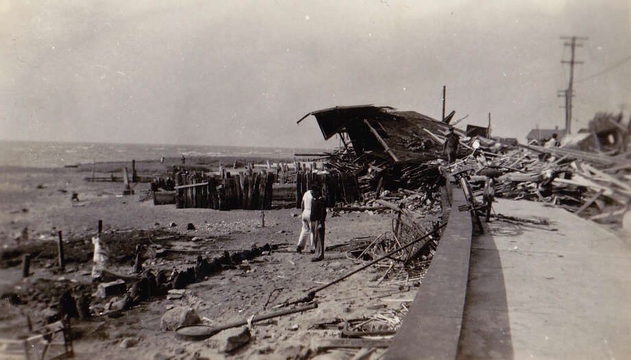 This old photo, courtesy of John Gallbronner and the WalnutBeach/Myrtle Beach Historical Society, shows damage in Milford following the hurricane of September, 1938. Photo: Contributed Photo