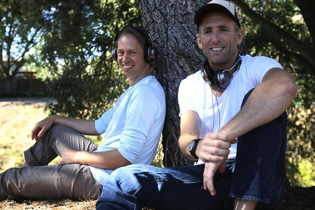 CEO Tim Hickman (left) and designer David Adam of California Headphone expect their line  to hit the United States, United Kingdom, France and South Korea starting next month. Photo: Megan Farmer, The Chronicle