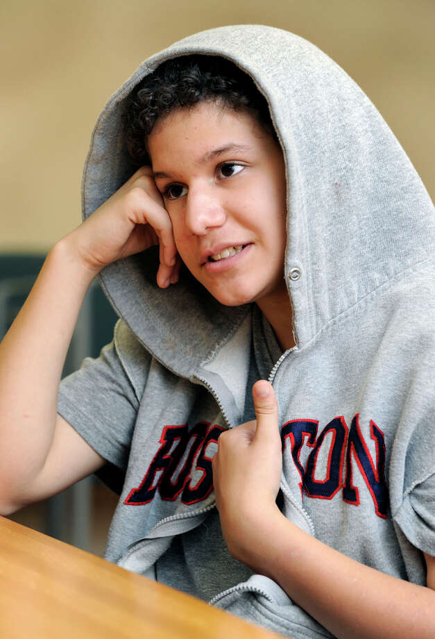 Ilyssa, 15, enjoys music, computers and penguins. Photo: Carol Kaliff / The News-Times