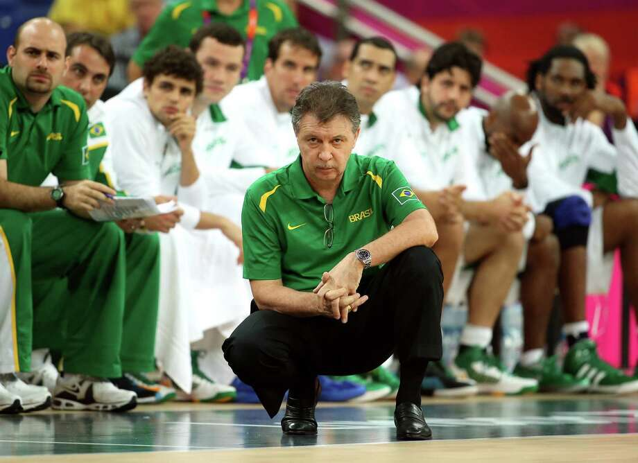 LONDON, ENGLAND - AUGUST 08:  Head coach Ruben Magnano of Brazil looks on in the second half while taking on Argentina during the Men's Basketball quaterfinal game on Day 12 of the London 2012 Olympic Games at North Greenwich Arena on August 8, 2012 in London, England. Photo: Christian Petersen, Getty Images / 2012 Getty Images