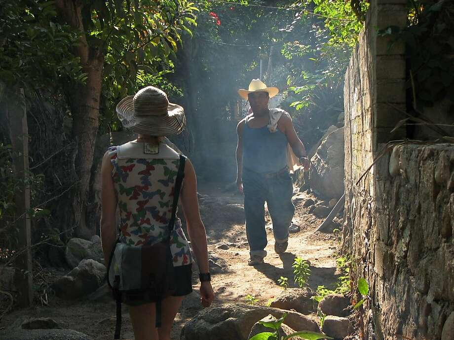 Walking is the main mode of transport in the village of Yelapa. Photo: Grant Taylor, Special To The Chronicle