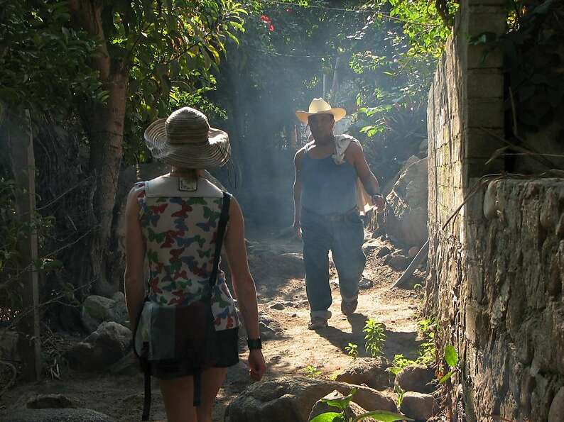 Walking is the main mode of transport in the village of Yelapa.