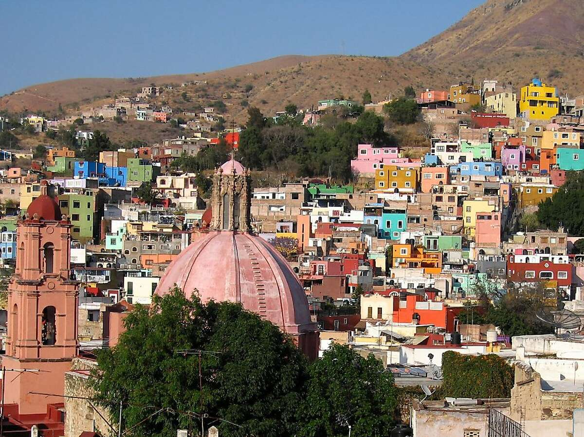From the pathways above the city, Guanajuato resembles a town assembled from random Lego blocks.