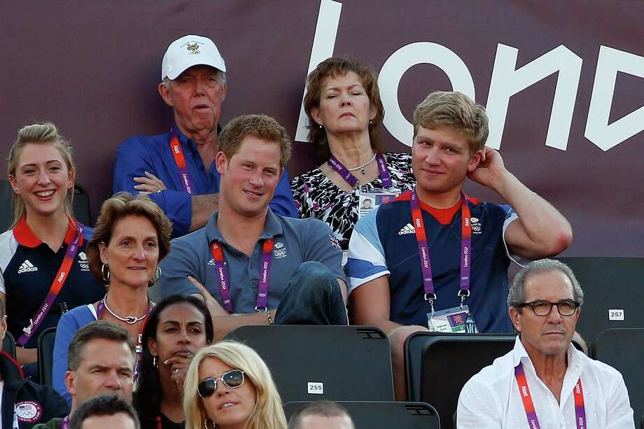 LONDON, ENGLAND - AUGUST 08:  Prince Harry watches the Women's Beach Volleyball on Day 12 of the London 2012 Olympic Games at the Horse Guard's Parade on August 8, 2012 in London, England. Photo: Jamie Squire, Getty Images / 2012 Getty Images