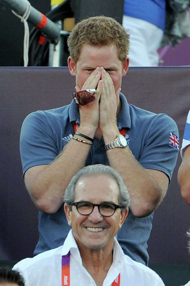 LONDON, ENGLAND - AUGUST 08:  Prince Harry watches Beach Volleyball on Day 12 of the London 2012 Olympic Games at Horse Guards Parade on August 8, 2012 in London, England. Photo: Pascal Le Segretain, Getty Images / 2012 Getty Images