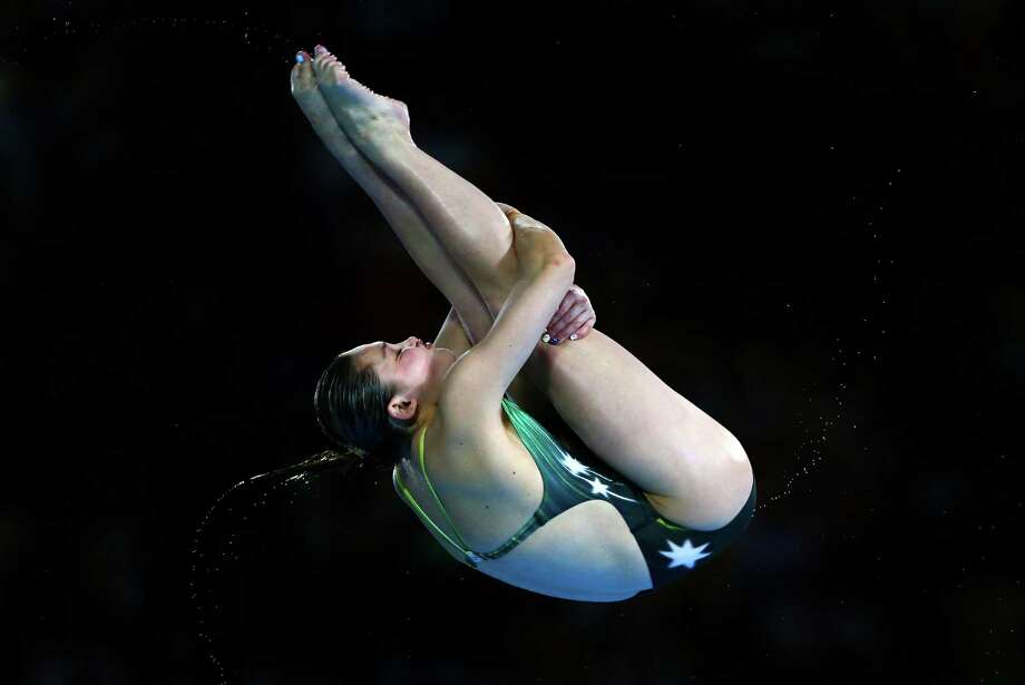 LONDON, ENGLAND - AUGUST 08:  Melissa Wu of Australia competes in the Women's 10m Platform Diving Preliminary on Day 12 of the London 2012 Olympic Games at the Aquatics Centre on August 8, 2012 in London, England. Photo: Al Bello, Getty Images / 2012 Getty Images