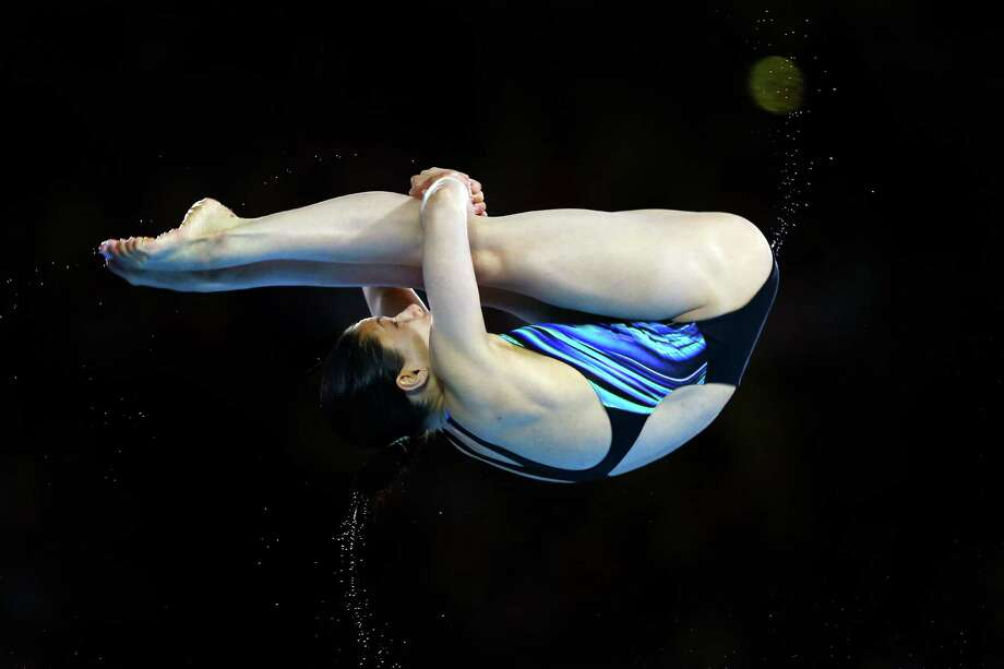 LONDON, ENGLAND - AUGUST 08:  Yulia Koltunova of Russia competes in the Women's 10m Platform Diving Preliminary on Day 12 of the London 2012 Olympic Games at the Aquatics Centre on August 8, 2012 in London, England. Photo: Al Bello, Getty Images / 2012 Getty Images