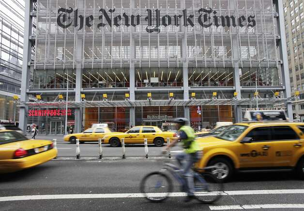 New York Times Co. stock rose 6.06 percent as the publisher entered negotiations to sell About.com. Photo: Mark Lennihan, Associated Press