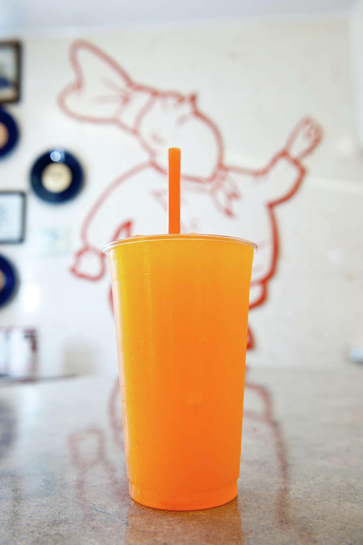 Orange Freeze from Burger Boy.