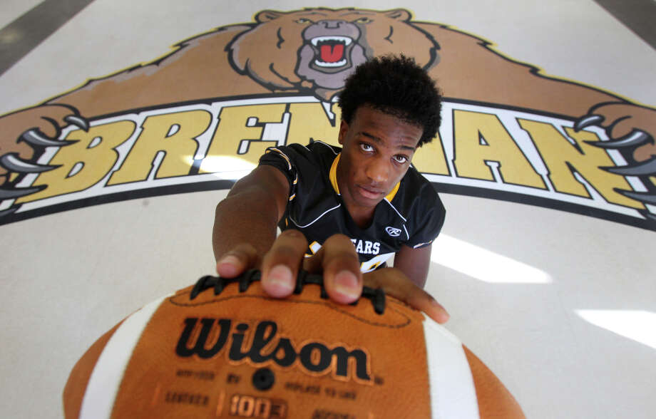 Brennan High School defensive end Derick Roberson, 16, will be a junior this year and was an all-area selection as a sophomore. He committed to Texas on Aug. 2. Photo: John Davenport, San Antonio Express-News / John Davenport/©San Antonio Exp