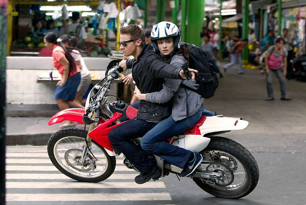 Jeremy Renner and Rachel Weisz are on the run in