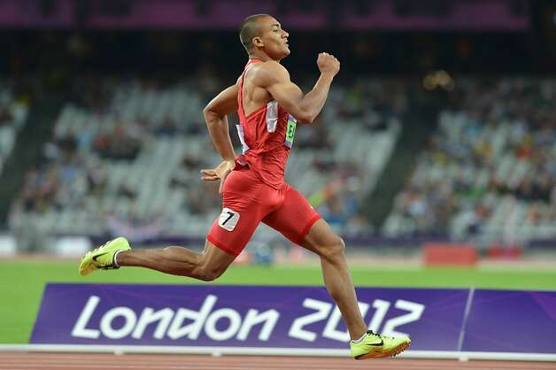 US' Ashton Eaton competes in the men's decathlon 400m at the athletics event of the London 2012 Olympic Games on August 8, 2012 in London. AFP PHOTO / JOHANNES EISELEJOHANNES EISELE/AFP/GettyImages Photo: Johannes Eisele, AFP/Getty Images