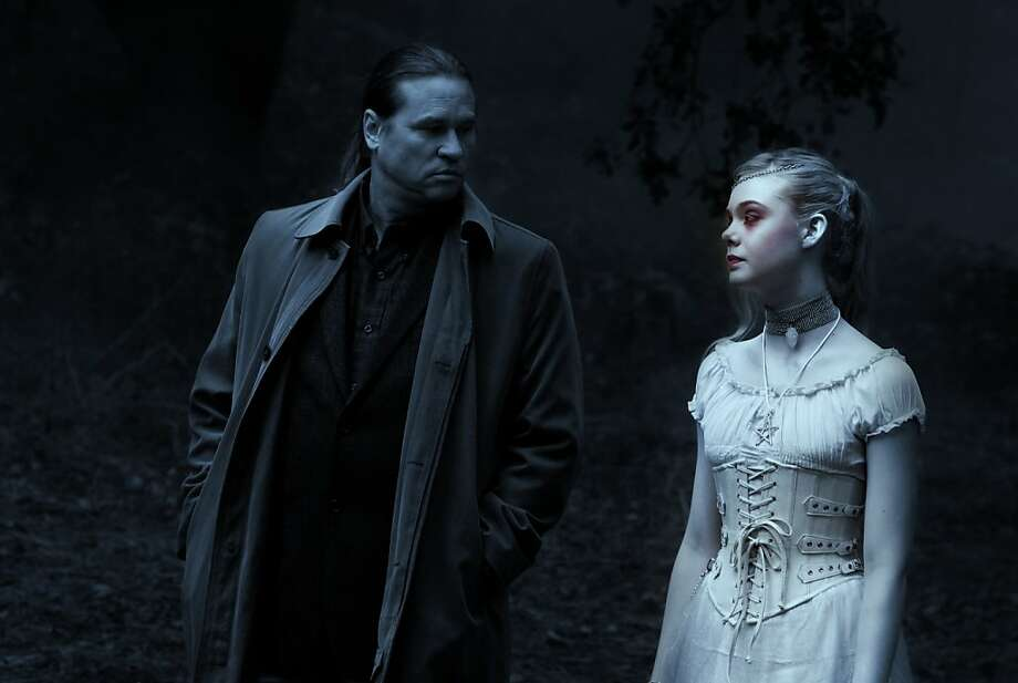 "Writer Hall Baltimore (Val Kilmer) encounters a ghostly girl (Elle Fanning) with a story to tell in ""Twixt."" Photo: Kalman Muller, American Zoetrope"