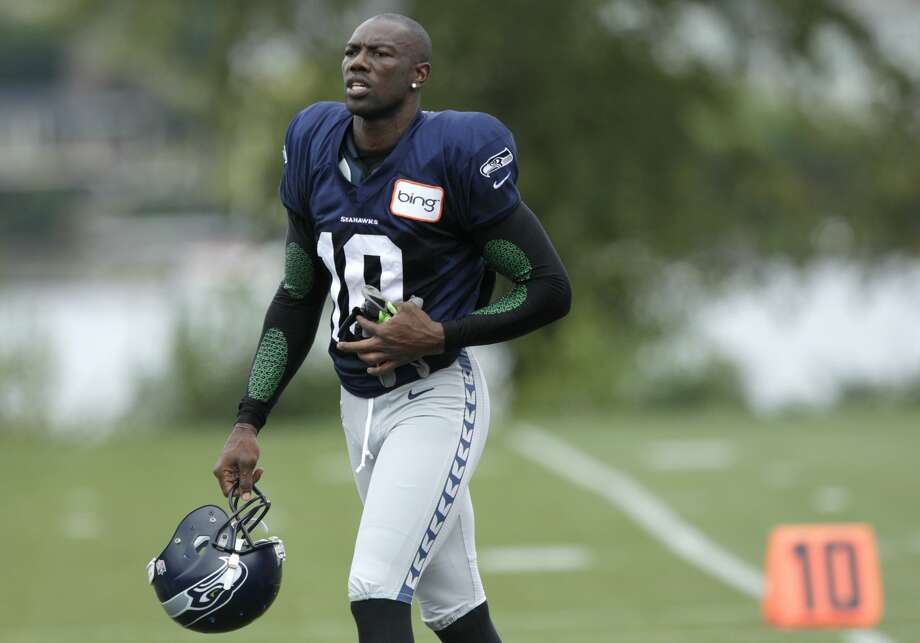 Seattle Seahawks' Terrell Owens is shown during NFL football training camp, Wednesday, Aug. 8, 2012, in Renton, Wash. (Ted S. Warren / Associated Press)