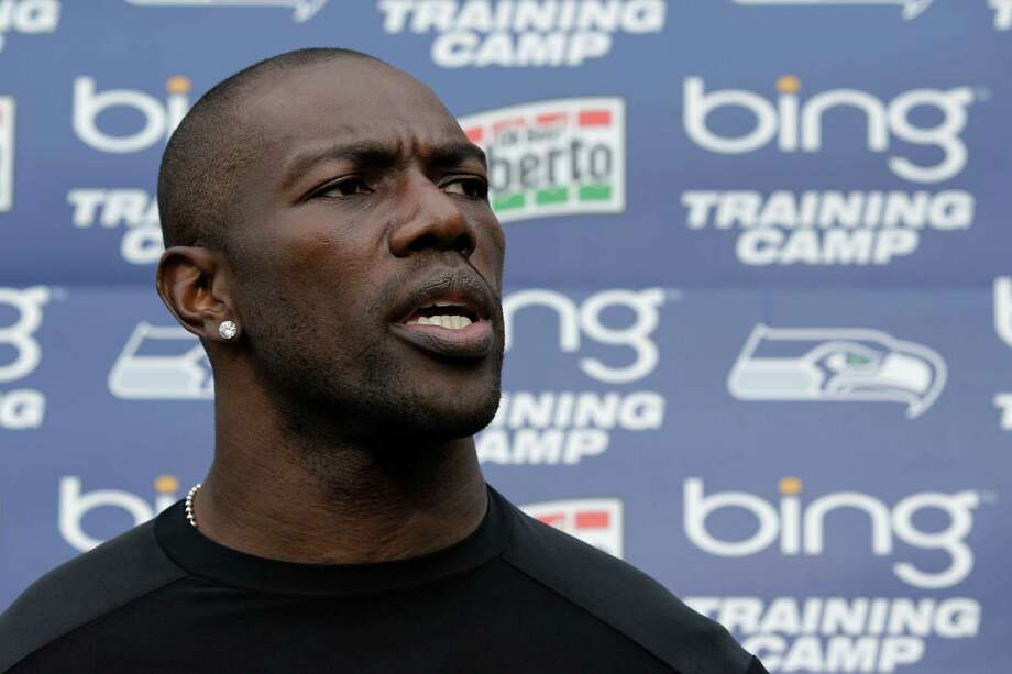 Seattle Seahawks' Terrell Owens is shown taking questions from reporters during NFL football training camp, Wednesday, Aug. 8, 2012, in Renton, Wash. (Ted S. Warren / Associated Press) Photo: AP
