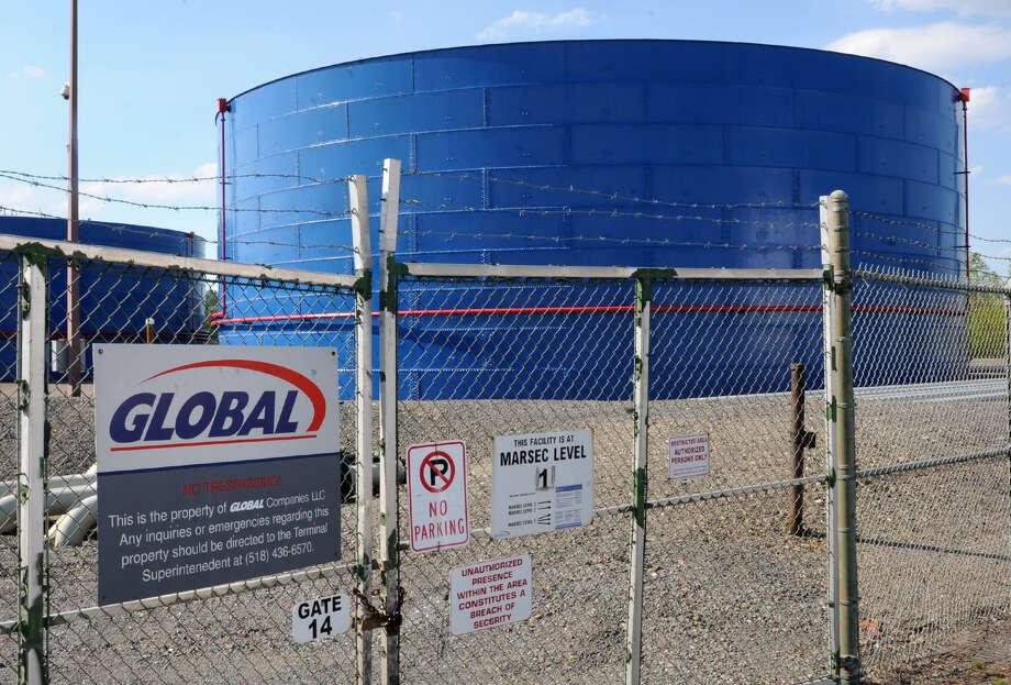 View of Global oil tanks at the Port of Albany Wednesday, Aug. 8, 2012 in Albany, N.Y. (Lori Van Buren / Times Union) Photo: Lori Van Buren