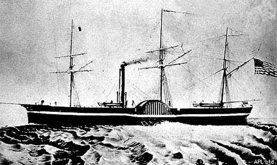 The steamship California was the first of the Gold Rush to enter  the Golden Gate. Photo courtsey of APL Ltd.