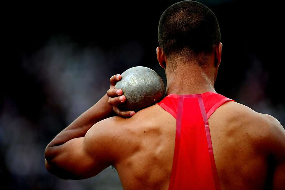 LONDON, ENGLAND - AUGUST 08:  Ashton Eaton of the United States competes in the Men's Decathlon Shot Put on Day 12 of the London 2012 Olympic Games at Olympic Stadium on August 8, 2012 in London, England.  (Photo by Stu Forster/Getty Images) ***BESTPIX*** Photo: Stu Forster, Getty Images