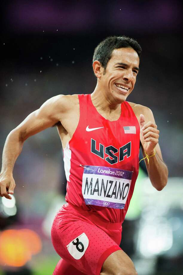 Leo Manzano of the USA runs in the men's 1,500-meters final during at the 2012 London Olympics on Tuesday, Aug. 7, 2012. Manzano, a former Texas Longhorn from Marble Falls, took the silver medal in the event.  It was the first medal won by the USA in the event in 44 years.  The last medal was won by Jim Ryun took the silver at the Mexico City Games in 1968. Photo: Smiley N. Pool, Houston Chronicle / © 2012  Houston Chronicle
