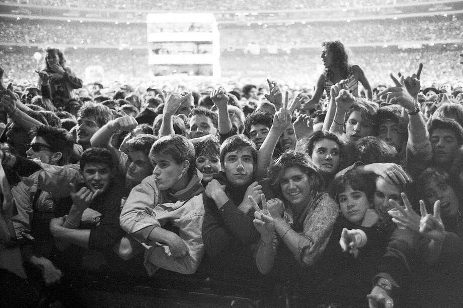 Nov. 14, 1987: U2 played for two days to a sold-out crowd at the Oakland Coliseum in November 1987. Tensions were high. The band was at their commercial peak and their outlaw image was enhanced by the pending charges against Bono for spray painting the Vaillancourt Fountain during a free concert a few days before.