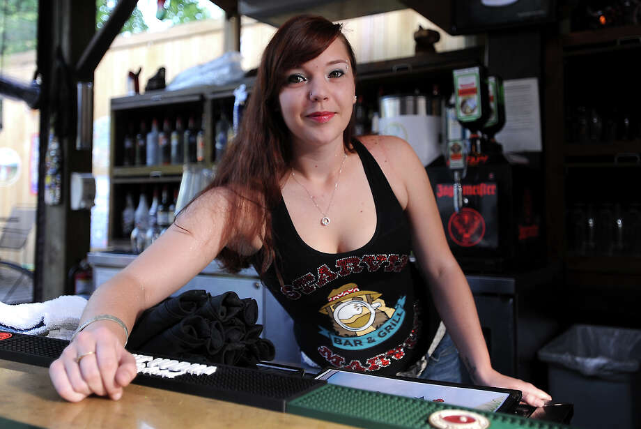 Gina Marie Ponzio of Stavin Marvin's is the Cat 5 Bartender of the Week. Tammy McKinley/The Enterprise Photo: TAMMY MCKINLEY