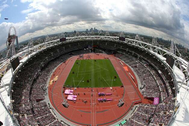 A view of the track during the Athletics day session on Day 12 of the London 2012 Olympic Games  at Olympic Stadium on August 8, 2012 in London, England.   (Richard Heathcote / Getty Images)