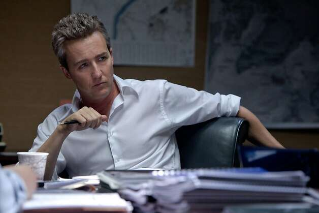 "This publicity film image released by Universal Pictures shows Edward Norton, as Ret. Col. Eric Byer, in a scene from ""The Bourne Legacy.""  Photo: Mary Cybulski, Associated Press"