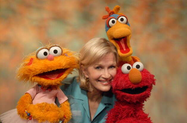 "File: Journalist Diane Sawyer on the set of ""Sesame Street"" taping a special segment called, Diane Sawyer ""Add's it Up."" (Photo by Theo Wargo/WireImage) (WireImage)"