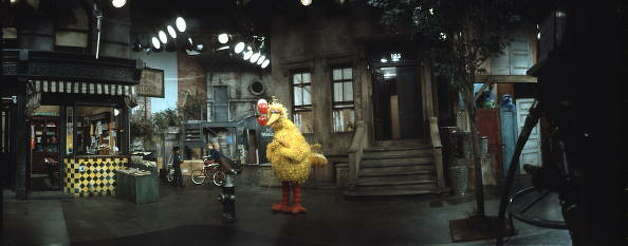 "File: Big Bird being filmed in a scene from ""Sesame Street.""  November, 1970. (Photo by Bill Pierce/Getty Images) (Time & Life Pictures/Getty Image)"