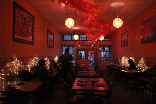 Mission Chinese Food in San Francisco regularly contributes 75 cents from each entree to charity. Photo: Liz Hafalia, The Chronicle 2011 / SF