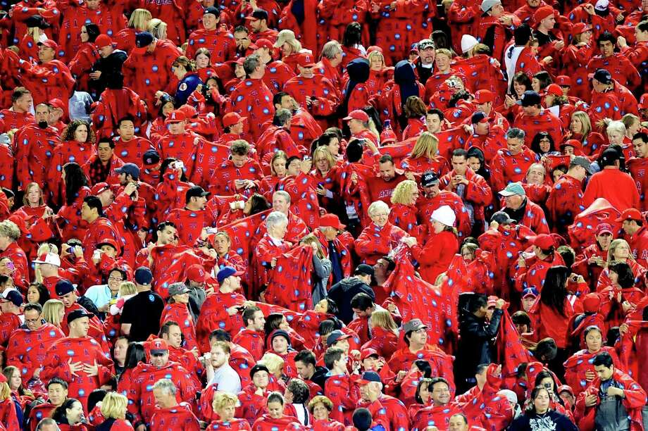 On to the clothing section of our gallery, starting with Los Angeles Angels of Anaheim fans breaking a record for most snuggies worn at one time during a game against the Minnesota Twins on April 6, 2010 in Anaheim, Calif. Photo: Jacob De Golish, Getty Images