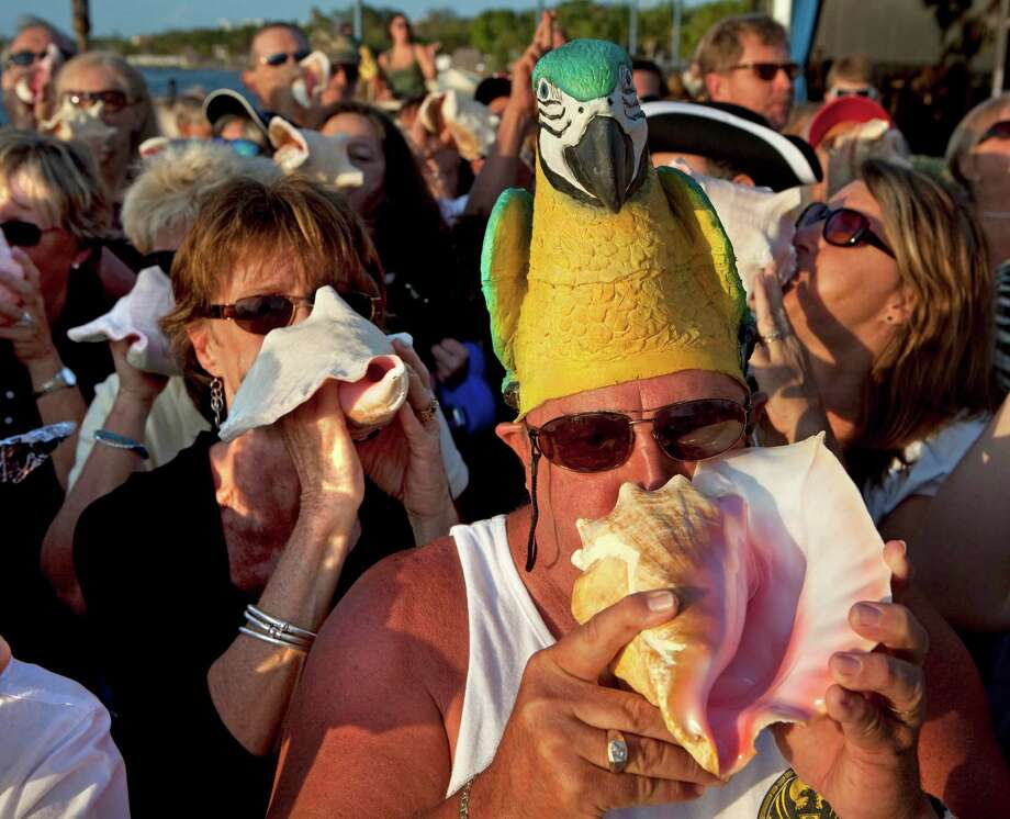 Conch shell blowers gathered to create a new record on April 17, 2009 at Sundowner's Restaurant  in Key Largo, Fla. Photo: Handout, Getty Images