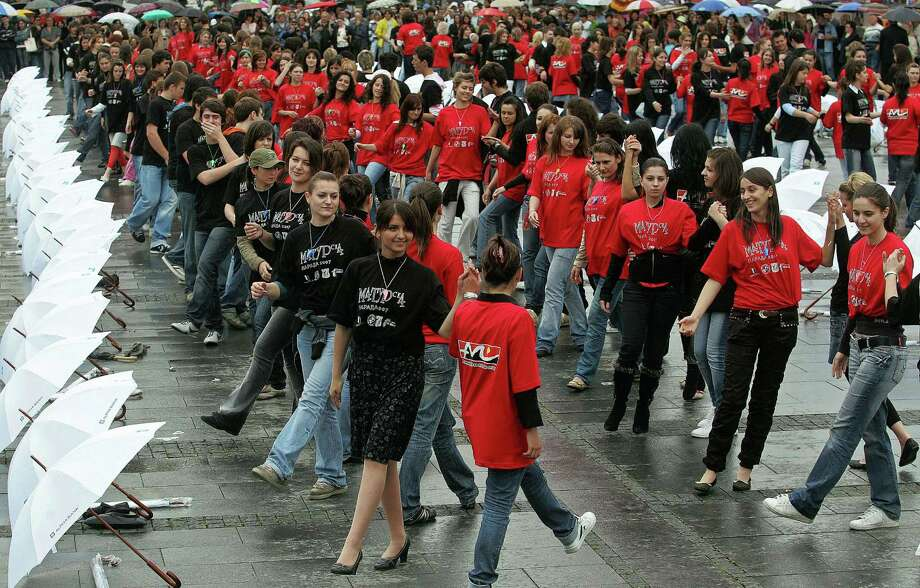 Sticking with the dance theme, high school graduates from former Yugoslav republics have repeatedly taken part in a Quadrille Dance