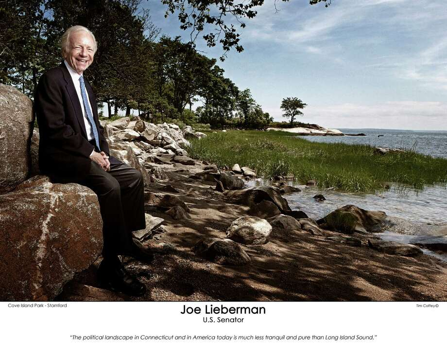 "U.S. Sen. Joe Lieberman is among the subjects in Stamford photographer Tim Coffey's exhibition ""Connecticut's Political Landscape,"" which is on view at the Concourse Gallery, State Capitol Building in Hartford, Conn., through the end of August 2012. In addition to photographing former and current politicians, Coffey also asked his subjects to offer a few words about the state's political landscape. All of the 51 portraits include a quote from those interviews. Photo: Contributed Photo / Stamford Advocate Contributed"