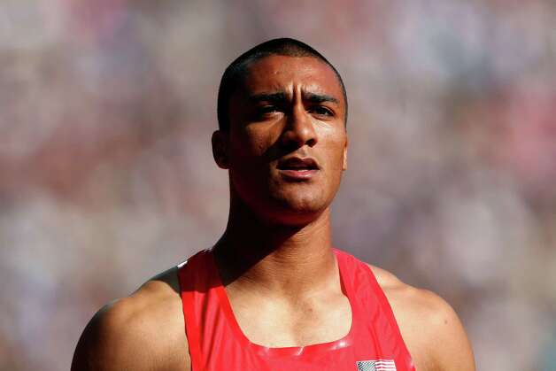 LONDON, ENGLAND - AUGUST 09:  Ashton Eaton of the United States  looks on after competing during the Men's Decathlon 110m Hurdles heats on Day 13 of the London 2012 Olympic Games at Olympic Stadium on August 9, 2012 in London, England. Photo: Michael Steele, Getty Images / 2012 Getty Images